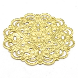 Ornament, filligrain, goud, 30 mm (2 st.)