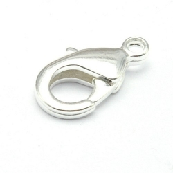 Karabijnslot zilver 16 mm (5 st.)
