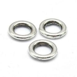 Dichte ring, antique zilver, 8 mm (ca. 37 stuks)