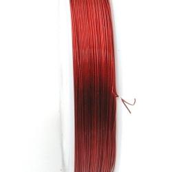 Staaldraad rood 0.6mm (100 meter)