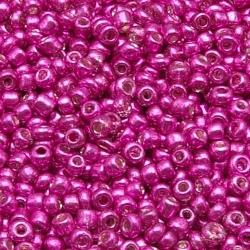 Rocailles, roze, metallic, ca. 1,5 mm (50 gr.)