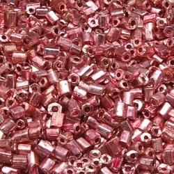 Rocailles, roze, metallic, ca. 2 mm (50 gr.)