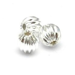 Metaal kraal, rond, zilver, 4 mm (10 st.)