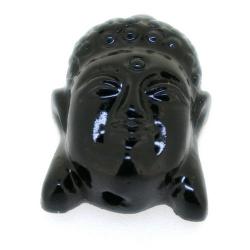 Resin kraal, boedha, zwart, 28 mm (3 st.)