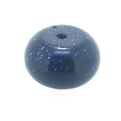 Blue Goldstone kraal rond 6 x 12 mm (5 st.)