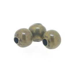 DQ Metalen kraal, rond, antique goud, 3 mm (100 st.)