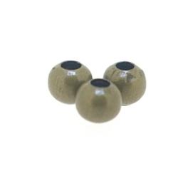 DQ Metalen kraal, rond, antique goud, 4 mm (100 st.)
