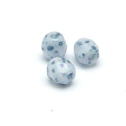 Tsjechisch glas, kraal, rond, facet, Snow White Miramor Blue, 4 mm (65 st.)