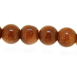 Brown Goldstone kraal rond 6 mm (10 st.)