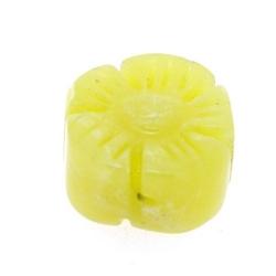 Butter Jade kraal bloem 12 mm (3 st.)