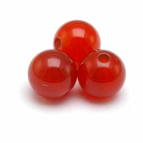 Red Agate kraal rond 6 mm (10 st.)