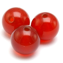 Red Agate kraal rond 8 mm (10 st.)