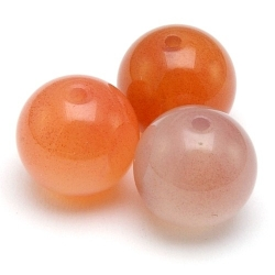 Orange Botswana Agaat kraal rond 10 mm (10 st.)