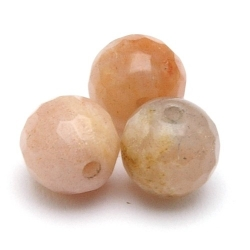 Sunstone kraal rond facet 6 mm (10 st.)