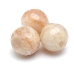 Sunstone kraal rond facet 8 mm (10 st.)