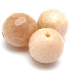 Sunstone kraal rond facedt 10 mm (5 st.)