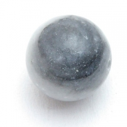 Black Water Jaspis, kraal, rond, 16 mm (5 st.)