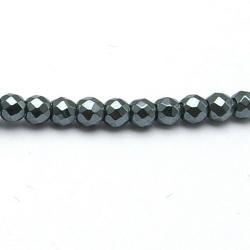 Hematiet kraal rond facetten 4 mm (20 st.)