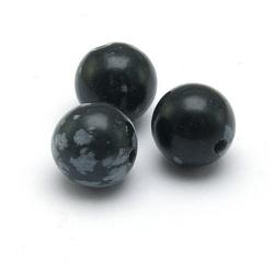Snowflake Obsidian kraal rond 8 mm (10 st.)
