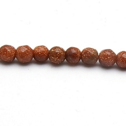 Brown Goldstone kraal rond facet 4 mm (20 st.)