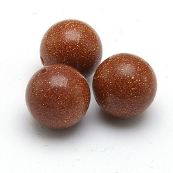 Brown Goldstone kraal rond 12 mm (5 st.)