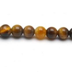 Tigereye kraal rond 4 mm (20 st.)