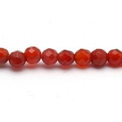 Red Aventurine kraal rond facet 4 mm (20 st.)