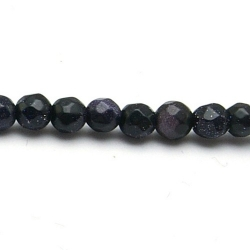 Blue Goldstone kraal rond facet 4 mm (20 st)