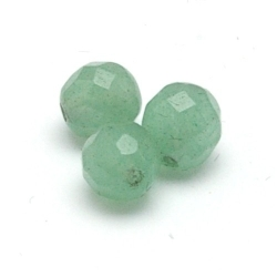 Green Aventurine kraal rond facet 8 mm (10 st.)
