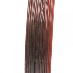 Elastiek rijgdraad 0.8mm bruin (10 meter)