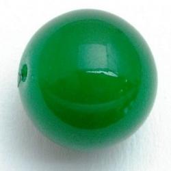 Glaskraal, rond, groen, 12 mm (5 st.)