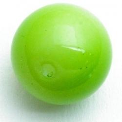 Glaskraal, rond, limegroen, 12 mm (5 st.)
