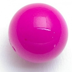 Glaskraal, rond, fel roze, 14 mm (5 st.)