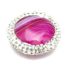 Agaat kraal glitter rond roze 22 mm (1 st.)