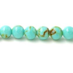 Gekleurd steen kraal turquoise 4mm (20 st.)