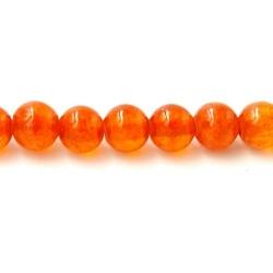 Gekleurd steen kraal steenrood 4mm (20 st.)