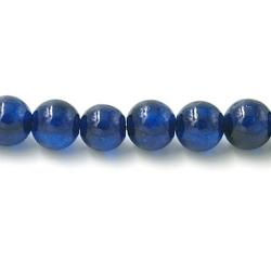 Gekleurd steen kraal blauw 4 mm (20 st.)