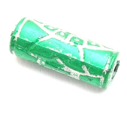 Kunststof kraal cylinder groen 27 mm (5 st.)