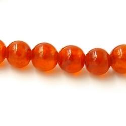 Gekleurd steen kraal oranje 4 mm (20 st.)