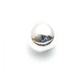 Metallook kraal, rond, zilver, 4 mm (30 st.)