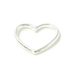 DQ metaal hanger open hart zilver 25mm (5 st.)